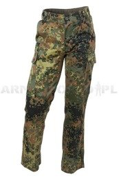 Military Trousers Flecktarn Bundeswehr Cargo Pants Original Demobil - Set of 10 pieces