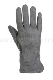 Military Warmed Leather Gloves Dutch M1 Grey New