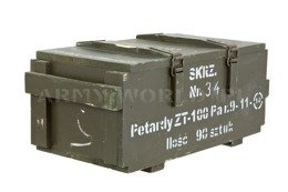 Military Wood Ammo Box Big 66x30x27 Oliv Oryginal Used