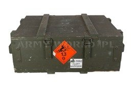 Military Wood Ammo Box Medium 68x53x23  Oliv Oryginal Used