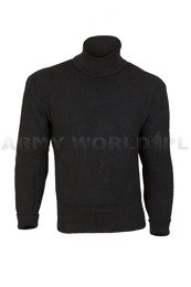 Military Woolen Sweater Polish 501/MON Original Black New