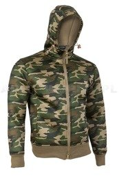Neoprene Shirt Woodland With a Hood Mil-tec New
