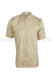 Officer Shirt with short sleeves  301/MON Original Khaki New