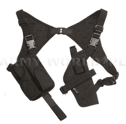 Operational Holster with Suspenders Bilateral Mil-Tec Black New