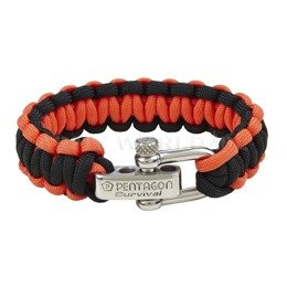 Paracord Survival Bracelet Pentagon 2. Black-Red New