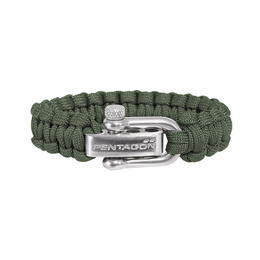 Paracord Survival Bracelet Pentagon 2. Olive New