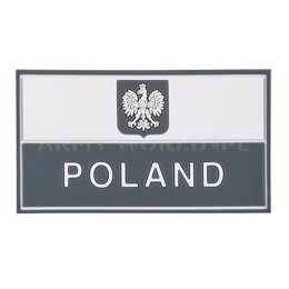 Polish Banner Patch PVC Helikon-tex White-Black