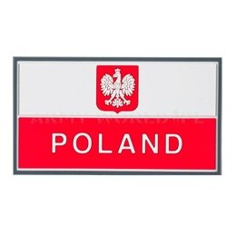 Polish Banner Patch PVC Helikon-tex White-Red
