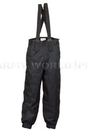 Polish Military Waterproof Trousers Warmed 607/MON Black Original New