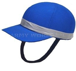 Protective Cap NATO With Peak And Reflective Elements Blue Demobil