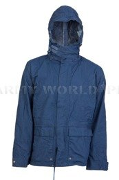 Rainproof Jacket Gore-Tex Bundeswehr Navy Blue Original Used - II Quality