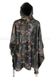 Rainproof Poncho Ripstop Woodland Mil-tec New