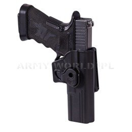 Release Button Holster for Glock 17 With Belt Clip Helikon-Tex Black New