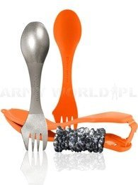 Set of two tool kits: Original and Titanium with Etiu THE ULTIMATE Light My Fire Orange New