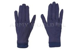 Silk Gloves Bundeswehr Navy blue Used
