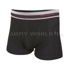 Sport Boxer Shorts ACTIVE WOOL Men's BRUBECK Black New