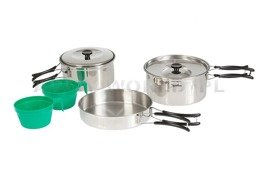 Stainless Steel Set of Tourist Dishes Mil-tec Original New