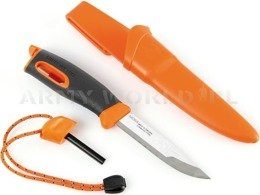 Swedish Knife  Mora Fire Knife LIGHT MY FIRE with fire starter - orange - original - new