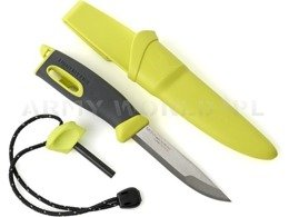 Swedish knife Mora Fire Knife LIGHT MY FIRE with firesteel bright green Lime - original - new