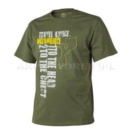 T-shirt Helikon-Tex Travel Advice: Mozambique U.S. Green New