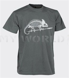 T-shirt Helikon-Tex  With Skeleton of Chameleon Shadow Grey New
