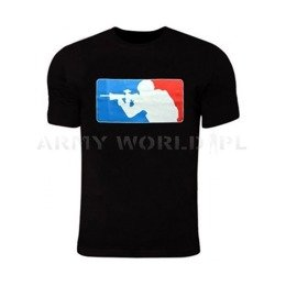T-shirt Major Leauge TigerWood Black Without Flags On Sleeves New