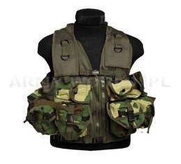 Tactical Vest WOODLAND Model US Paintball ASG Mil-tec New