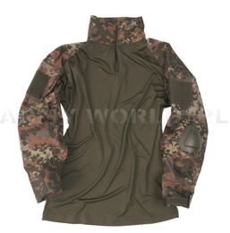Tactical shirt to wear with tactical vest - protectors included Flecktarn Ripstop New