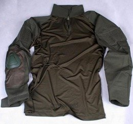 Tactical shirt to wear with tactical vest - protectors included Oliv Ripstop New