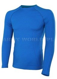 Thermoactive Long Sleeve Shirt ACTIVE WOOL Men's BRUBECK Blue New