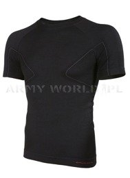 Thermoactive Short Sleeve Men's Shirt Active Wool Brubeck Black New