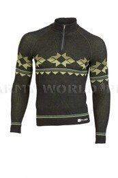 Thermoactive Sweater Prestige BRUBECK Men's Dark Green New SALE
