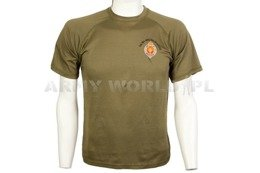 Thermoactive T-shirt Coolmax With Badge 1St Bn Welsh Guards Olive Used