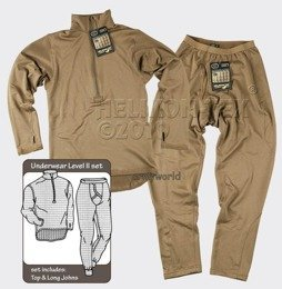 Thermoactive underwear Level 2 III Gen. Helikon  Coyote - set -  shirt + underpants