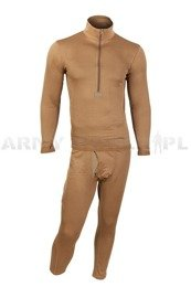Thermoactive underwear Level 2 III Gen. Mil-tec Coyote  - Set - Shirt + Drawers