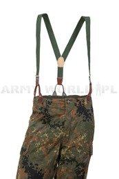 Trouser Suspenders Czech Oliv Used