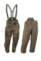 Trousers Goretex Flecktarn Bundeswehr + Lining To Wear Under Pants 56/58 Original New