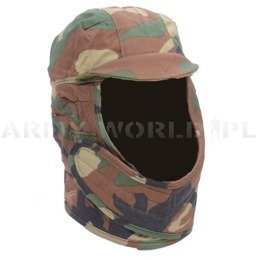 Ushanka Cap To Wear Under Helmet US Army Woodland Original Demobil