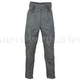 Women's Military Protective Flame-Resistant Trousers Bundeswehr ESA Grey Original Used