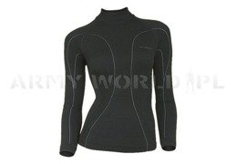 Women's Shirt Wool Merino Brubeck Black New Sale