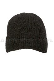 Wool Winter Cap Black Mil-tec New
