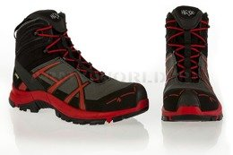 Workwear Boots Haix ® BLACK EAGLE Safety 40 Mid Gore-tex  Stone/Red Art. Nr :610020 II Quality New