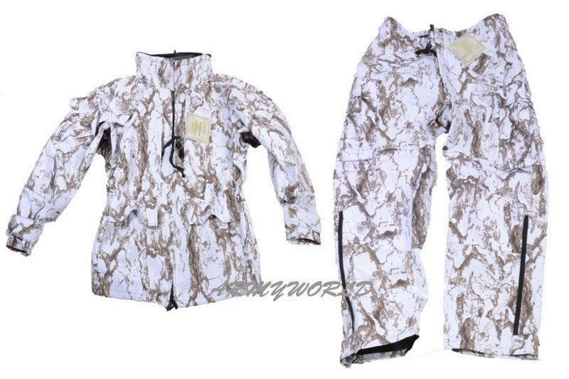 Hunting Rainproof Set Jacket Trousers Mil Tec Snow