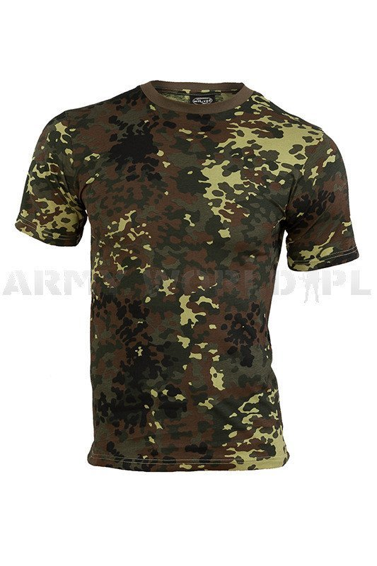 military t shirt flecktarn short sleeves mil tec new. Black Bedroom Furniture Sets. Home Design Ideas