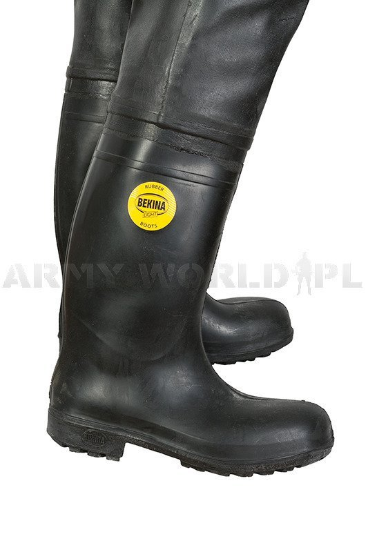 Military Waders Bekina Light Rubber Boots Black Original