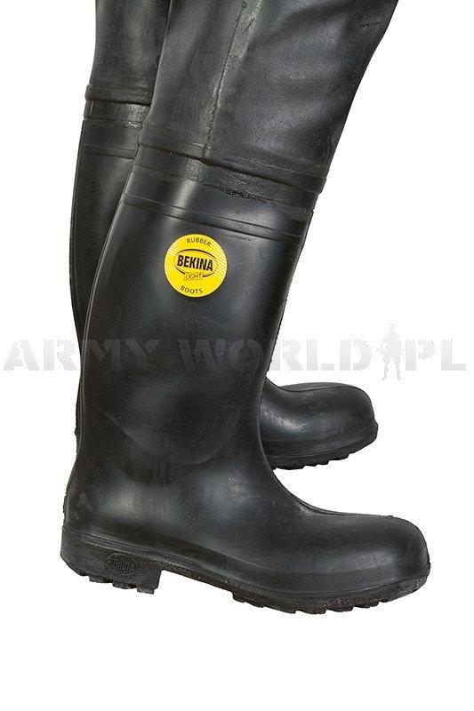 Military Waders Bekina Light Rubber Boots Black Original