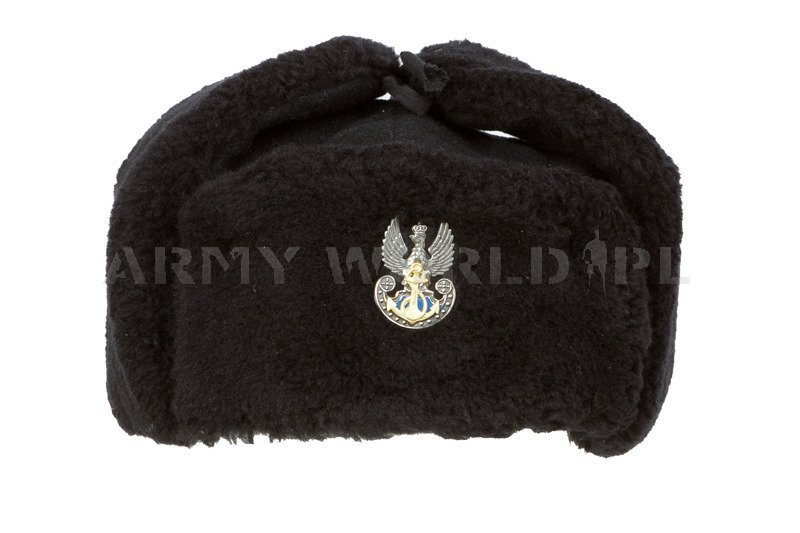cb5ef685516 Product eng polish military navy officer winter cap ushanka cap with  indication oryginal new jpg 800x533