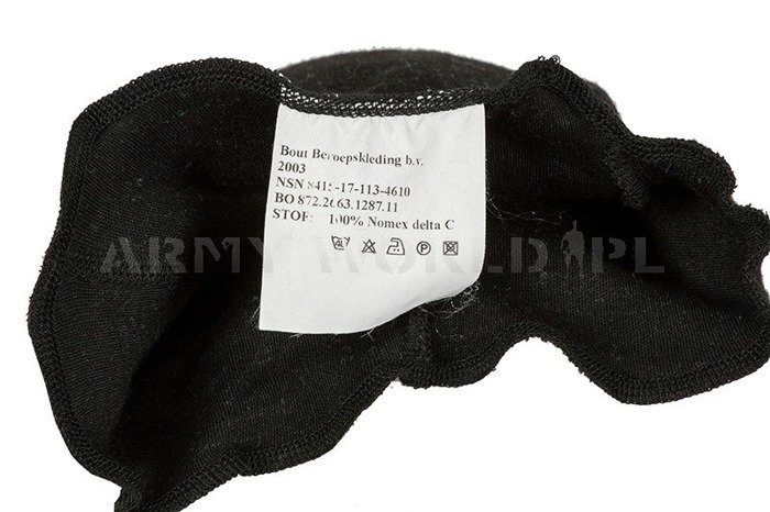 1-Hole Dutch Army Flame-Resistant Nomex Balaclava Black M2 Used