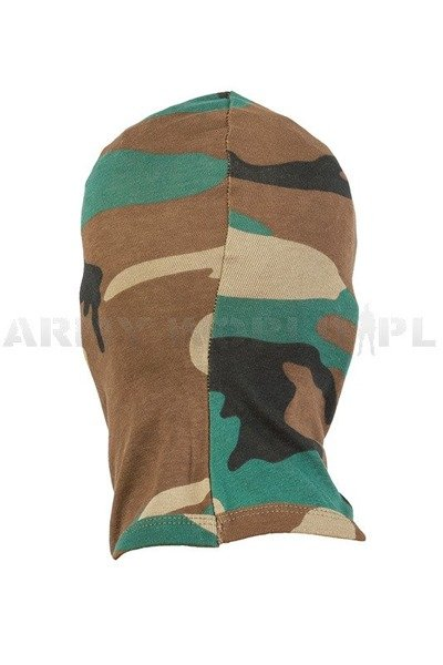 3-Hole Military Balaclava MFH Woodland New