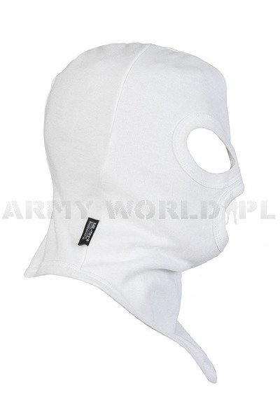 3-hole balaclava Miltec Profesional Cotton White Mil-Tec New